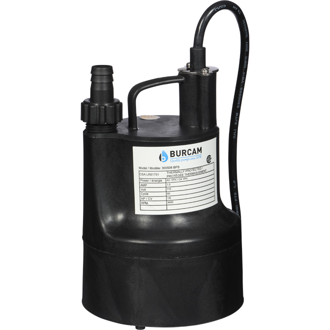Submersible Utility Pump - 1/6 HP