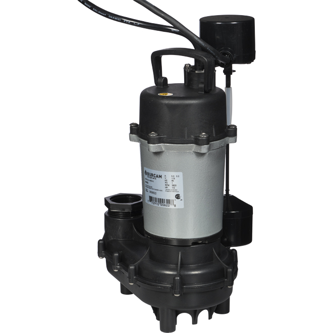 Submersible Sump Pump - 1/2 HP - 115 V