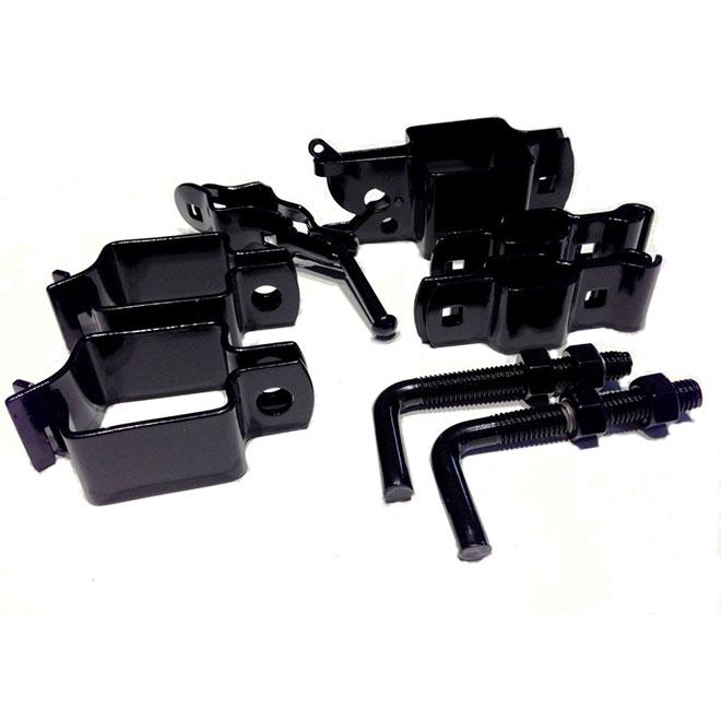 Steel Gate Hardware Kit - Black Gloss