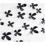 Wall Decoration - Black Flowers - Pack of 25