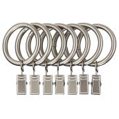 Pack of 7 Curtain Clip Rings - Nickel