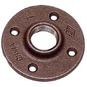 Black Iron Floor Flange - 1/2