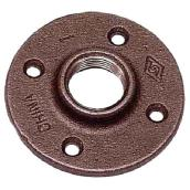 Black Iron Floor Flange - 1""