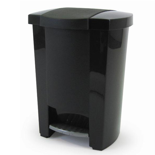 Mistral Step-On Garbage Can - 19 L - Black