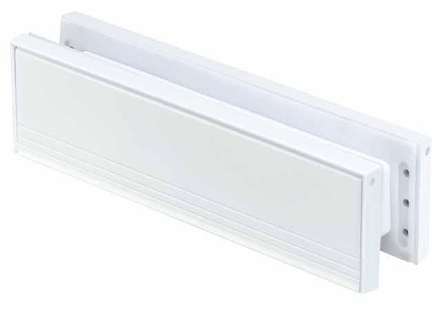 Artec Draft Dodger White Aluminum Mail Slot - 1 3/4-in x 8 3/4-in