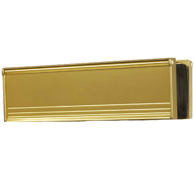 Artec Draft Dodger Mail Slot - Gold Aluminum - 1 3/4-in x 8 3/4-in