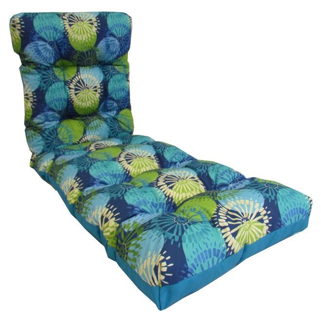 Coussin réversible pour chaise longue d\'extérieur   RONA