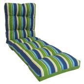 Coussin Pour Chaise Longue De Patio Polyester Bleu Rona