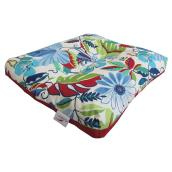 Seat Cushion for Patio Chair - Reversible - Blue/Red