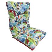 High-Back Patio Chair Cushion - Reversible - Blue/Red