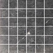 American Villa 10/Box 12-in x 12-in Black Veined Porcelain Tiles - 9.68 sq ft
