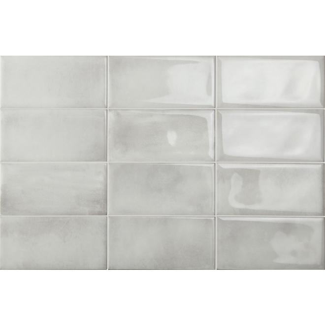 Iris Ceramica Be In Ceramic Tiles - 4-in x 8-in White - Pack of 32