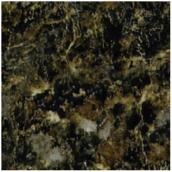 "Comptoir moulé Geneva, Labrador Granite, 25,5"" x 6'"