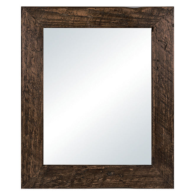 Mirror with Wooden Frame - 31.5\