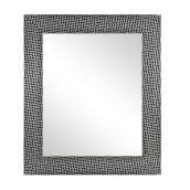 """Framed Mirror - 21.5"""" x 25.5"""" - Black/Chrome"""