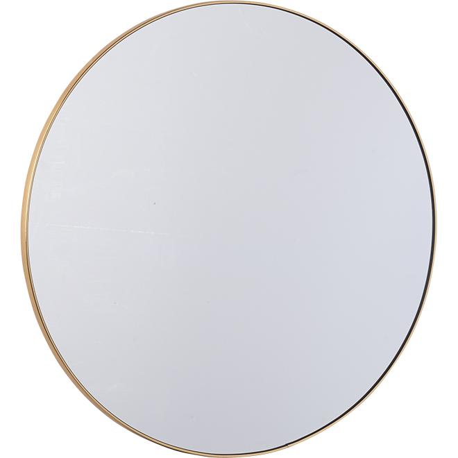 "Plastic Round Mirror - 20"" - Gold"