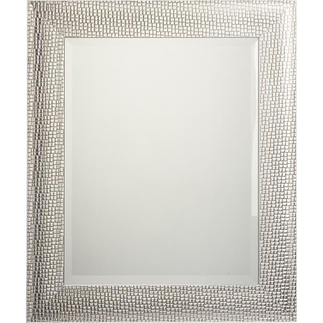 Miroir biseauté mosaïque, 21,5'' x 25,5'', argent