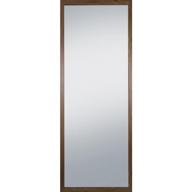 Columbia Frame Rectangular Floor Mirror - 26.45-in x 70-in - Walnut Frame