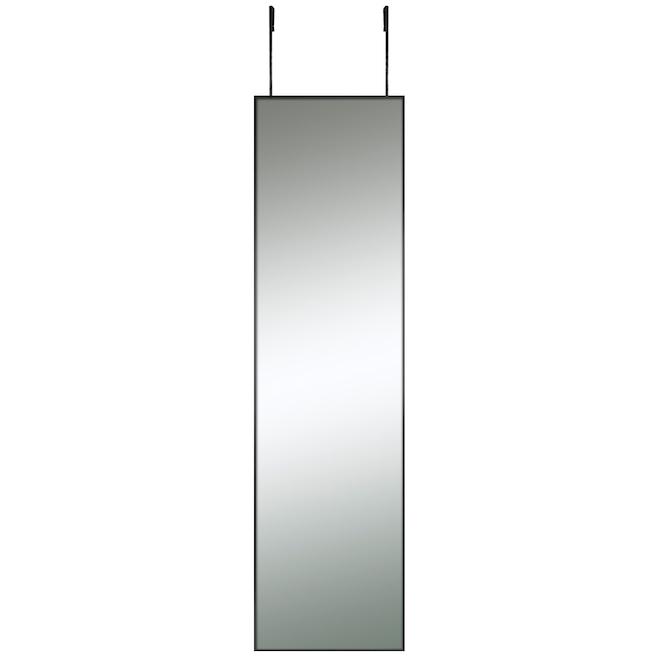 Columbia Moderna Over the Door Mirror Brushed Black Frame - 12.75-in x 48.75-in