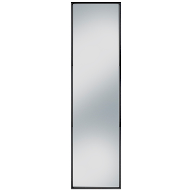Columbia Slantwise Perfection 17-in x 60.3-in Brushed Black Leaner Mirror