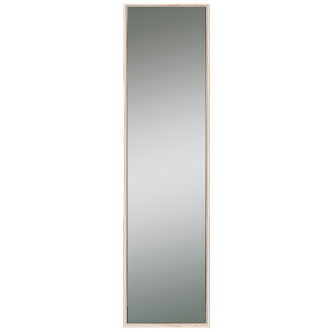 Columbia Slantwise Perfection 17-in x 60.3-in Natural Finish Leaner Mirror