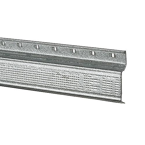 """Barre résiliente pour plafond, acier galvanisé, 12' x 1 3/8"""""""
