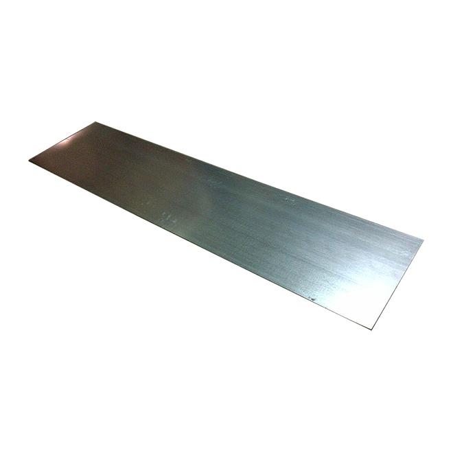 Feuille d'acier galvanisé Bailey, calibre 30, extérieur, 8 po L. x 36 po l. x 0,015 po p.