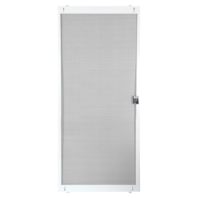 """Porte moustiquaire ajustable pour porte patio, blanc, 30"""""""