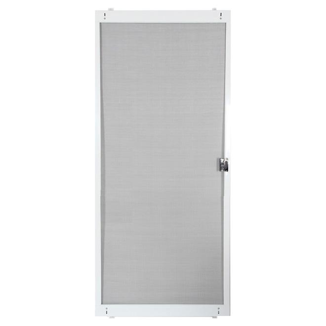 """Adjustable Patio Screen Door - White - 36"""""""