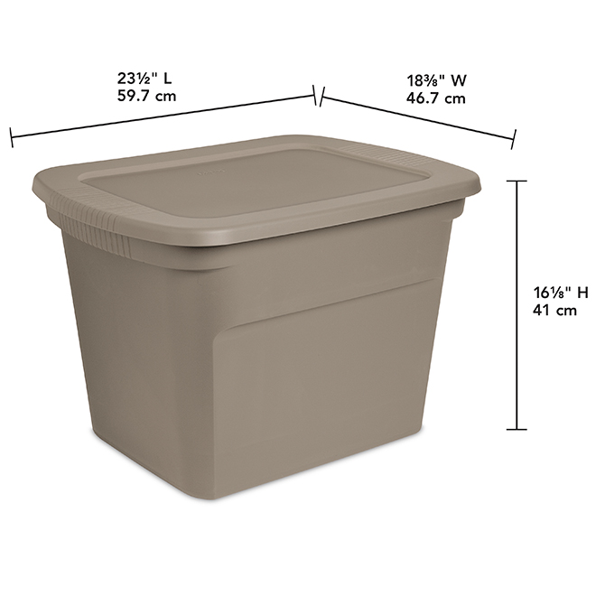 Sterlite 68-Litre Storage Box with Latch - Beige