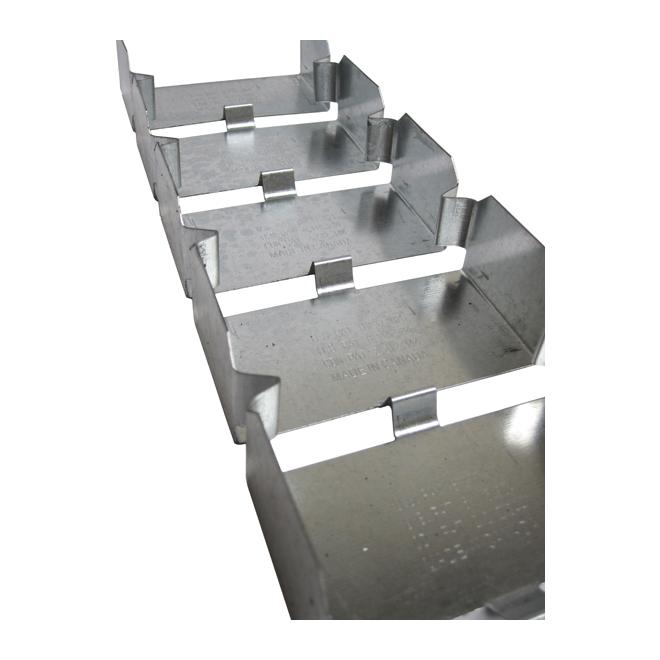Lisse d'encadrement en acier « Flex Track », 2 1/2 po x 8 pi