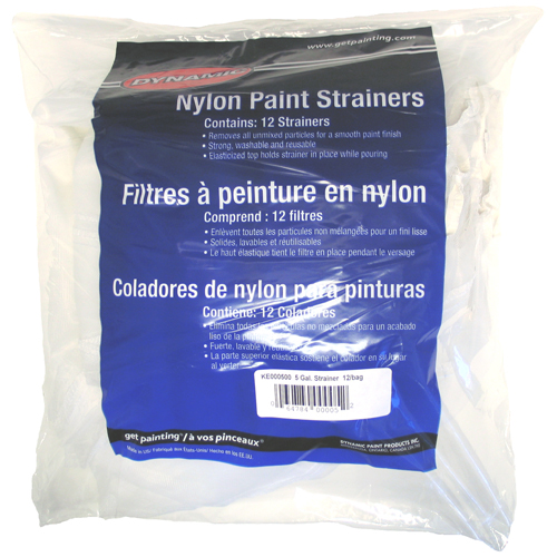 Dynamic(R) Nylon Paint Strainers - 5 Gal. - Pack of 12