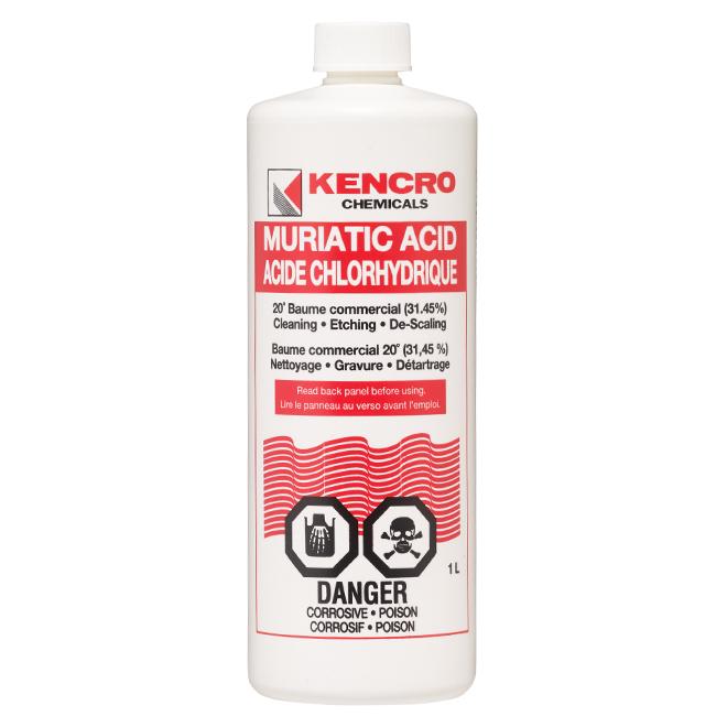 Kencro acide chlorhydrique 1 l 307879 rona - Acide chlorhydrique dans piscine ...
