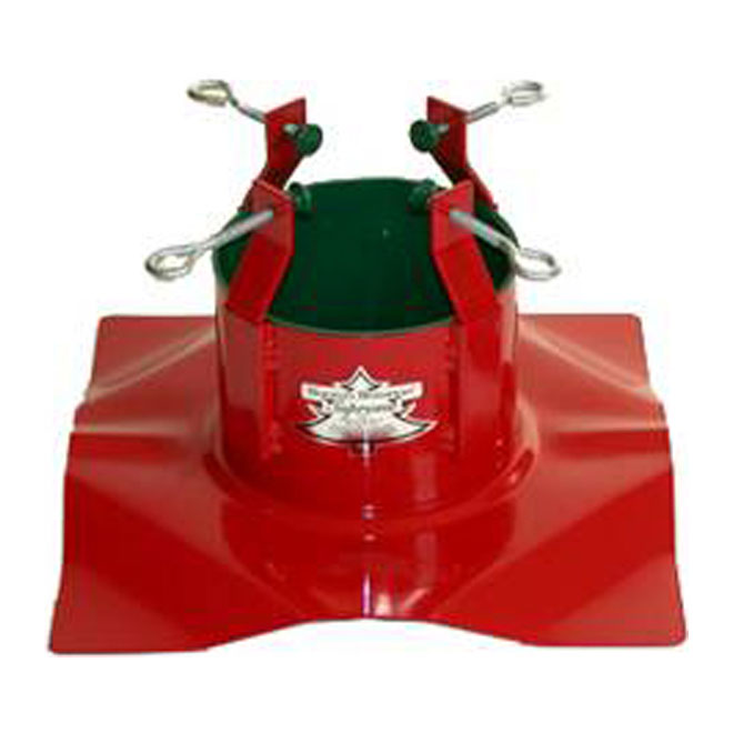 Christmas Tree Steel Stand - Red