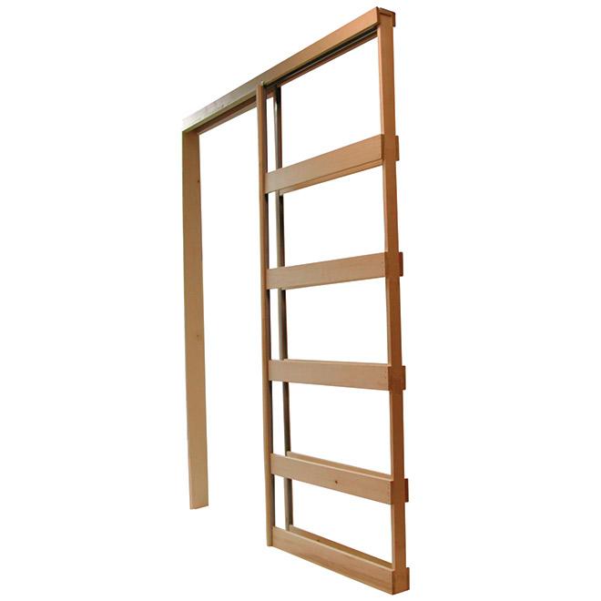 Pocket Door Frame 24 To 30 X 96 Wood Steel Nylon Pd3080kdbb Rona