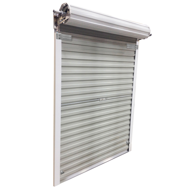 Genial Roll Up Steel Door For Shed, 5 Ft X 6 Ft   White
