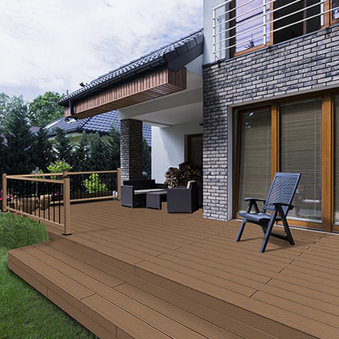 Composite Deck Board - 12' - Teak