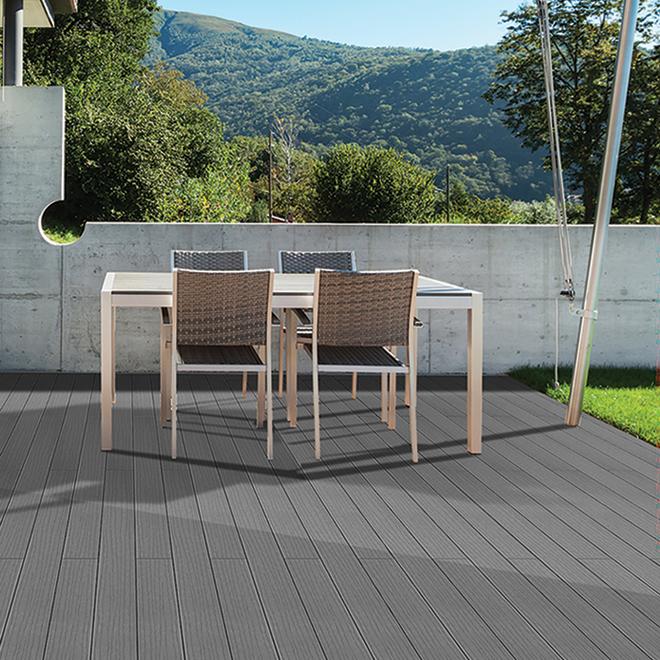 Composite Deck Board - 12'- Mirage Grey