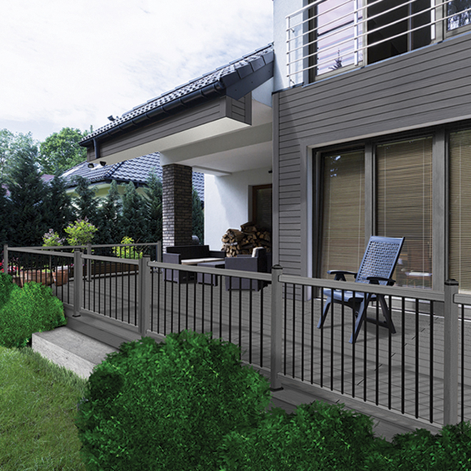 Planche pour terrasse 16', composite, mirage gris