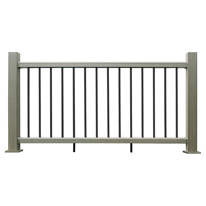 Railing End Post - 3 1/2 x 39'' - Composite - Grey
