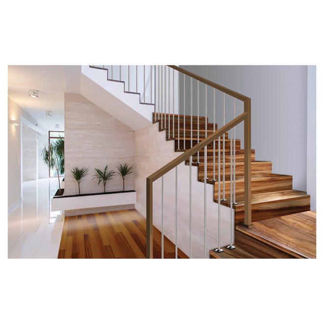 "Natural Acacia Stair Riser - 42"" / Varnish"