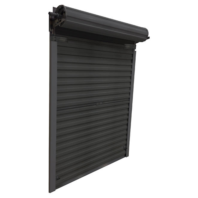 Roll Up Steel Door for Shed, 5' x 6' - Black
