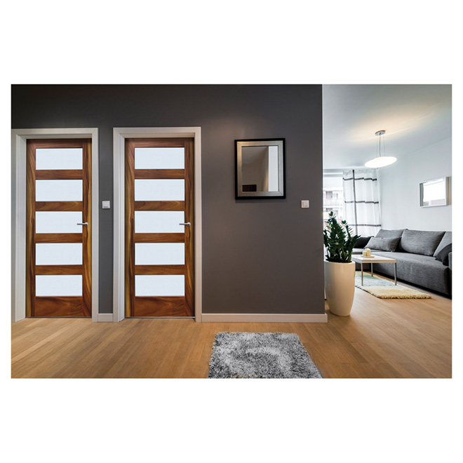"Leadvision French Door - Acacia Wood - 5-Lites - 30"" x 80"""