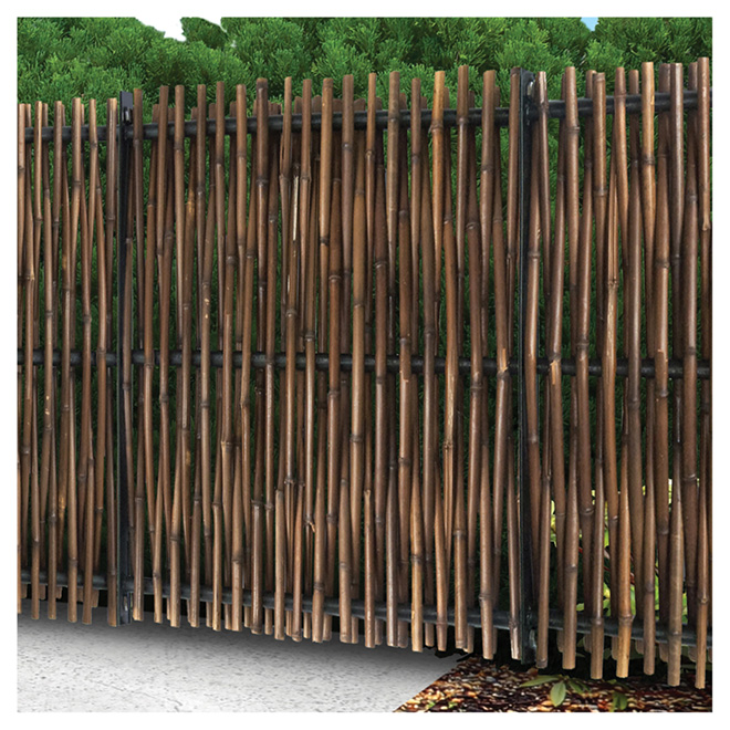 "Bamboo Fence - 72"" x 72"" - Brown"