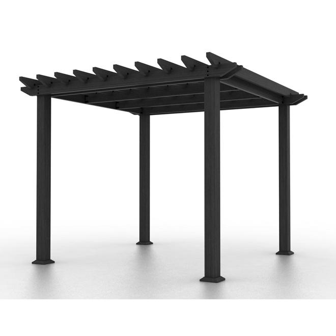 Composite Pergola - 10' x 10' - Charcoal