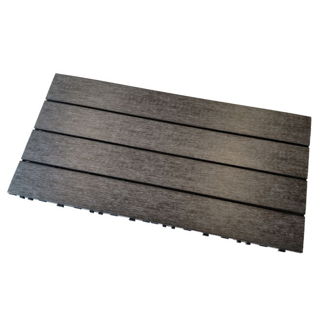 Leadvision Patio Tile - Composite - 12 x 24 x 1'' - 5/Pck - Mirage Grey