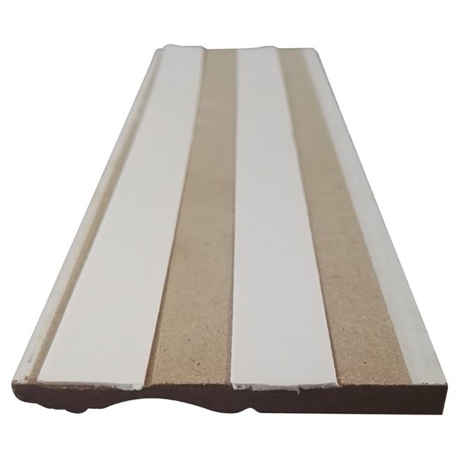 "Autoadhesive Baseboard - HDF - 8' x 3 7/8"" - White"