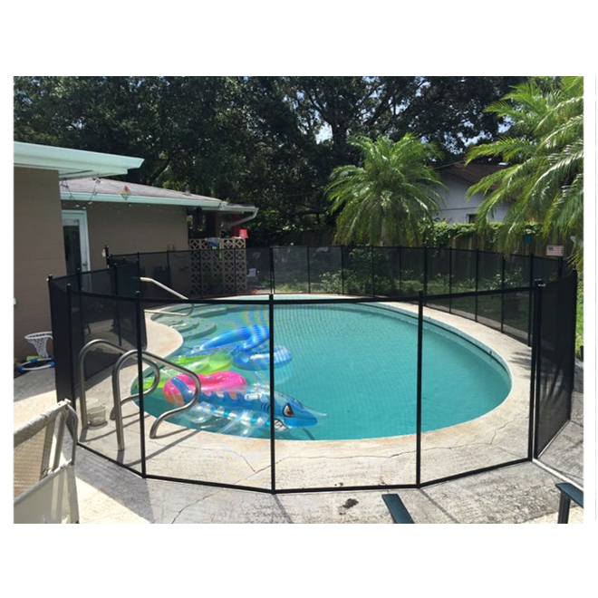 Pool Fence - 4' x 15' - Polyester and Aluminum - Black