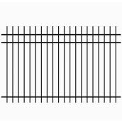 Wrought Iron Fence - 94'' x 72'' - Satin Black