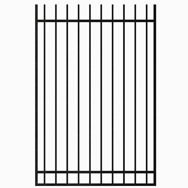 Barrière en fer forgé, 48'' x 60'', noir satiné